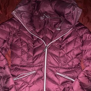 Michael Kors Fall Down Feather Jacket